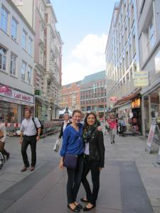 In the shopping district!