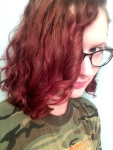 Slightly red ombre (today).